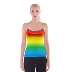 Rainbow Background Colourful Spaghetti Strap Top
