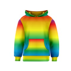 Rainbow Background Colourful Kids  Pullover Hoodie