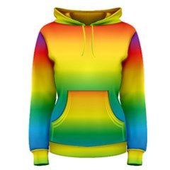 Rainbow Background Colourful Women s Pullover Hoodie