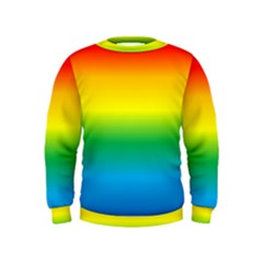Rainbow Background Colourful Kids  Sweatshirt