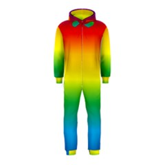Rainbow Background Colourful Hooded Jumpsuit (Kids)