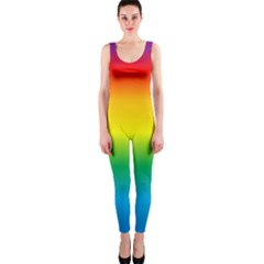Rainbow Background Colourful OnePiece Catsuit