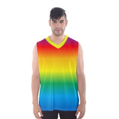 Rainbow Background Colourful Men s Basketball Tank Top