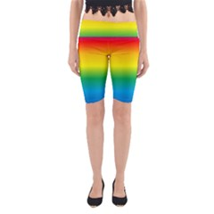 Rainbow Background Colourful Yoga Cropped Leggings