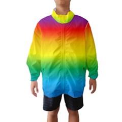Rainbow Background Colourful Wind Breaker (Kids)