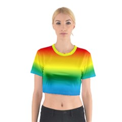 Rainbow Background Colourful Cotton Crop Top