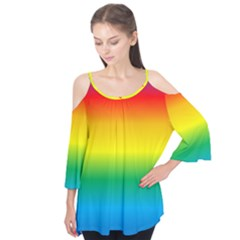 Rainbow Background Colourful Flutter Tees