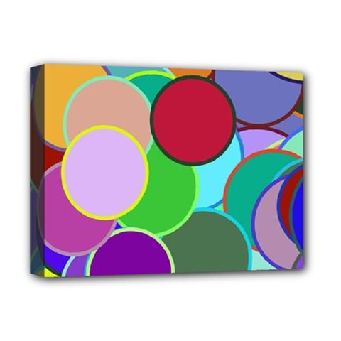 Dots Circles Colorful Unique Deluxe Canvas 16  x 12