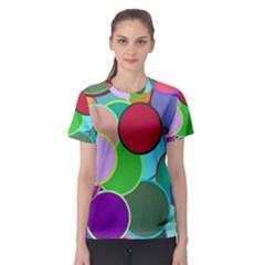 Dots Circles Colorful Unique Women s Sport Mesh Tee