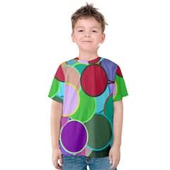 Dots Circles Colorful Unique Kids  Cotton Tee