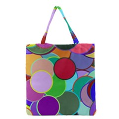 Dots Circles Colorful Unique Grocery Tote Bag