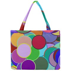 Dots Circles Colorful Unique Mini Tote Bag