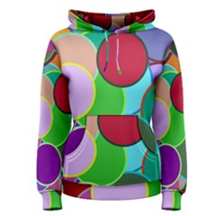 Dots Circles Colorful Unique Women s Pullover Hoodie
