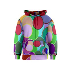 Dots Circles Colorful Unique Kids  Zipper Hoodie