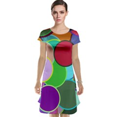 Dots Circles Colorful Unique Cap Sleeve Nightdress