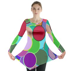 Dots Circles Colorful Unique Long Sleeve Tunic