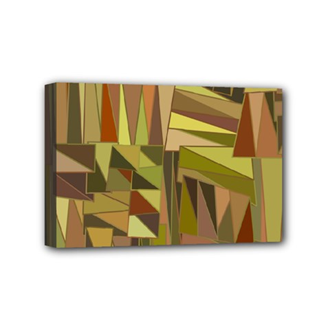 Earth Tones Geometric Shapes Unique Mini Canvas 6  x 4