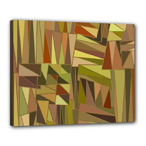 Earth Tones Geometric Shapes Unique Canvas 20  X 16