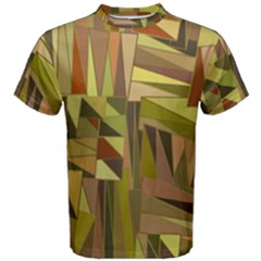 Earth Tones Geometric Shapes Unique Men s Cotton Tee