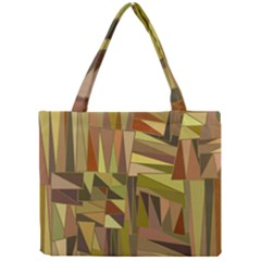 Earth Tones Geometric Shapes Unique Mini Tote Bag