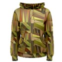 Earth Tones Geometric Shapes Unique Women s Pullover Hoodie View1