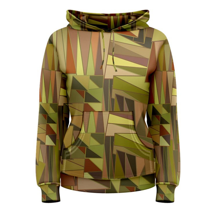 Earth Tones Geometric Shapes Unique Women s Pullover Hoodie