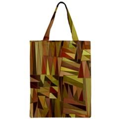 Earth Tones Geometric Shapes Unique Zipper Classic Tote Bag