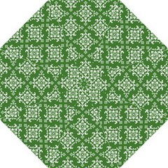 St Patrick S Day Damask Vintage Green Background Pattern Folding Umbrellas