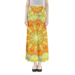 Sunshine Sunny Sun Abstract Yellow Maxi Skirts