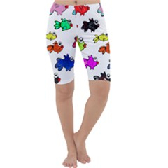 Fishes Marine Life Swimming Water Cropped Leggings
