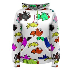 Fishes Marine Life Swimming Water Women s Pullover Hoodie