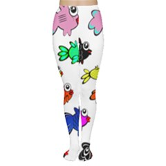 Fishes Marine Life Swimming Water Women s Tights