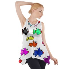 Fishes Marine Life Swimming Water Side Drop Tank Tunic