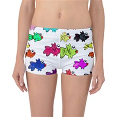 Fishes Marine Life Swimming Water Reversible Bikini Bottoms