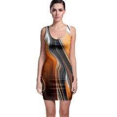 Fractal Structure Mathematics Sleeveless Bodycon Dress