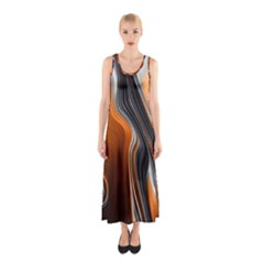 Fractal Structure Mathematics Sleeveless Maxi Dress