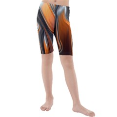 Fractal Structure Mathematics Kids  Mid Length Swim Shorts