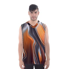 Fractal Structure Mathematics Men s Basketball Tank Top