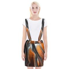 Fractal Structure Mathematics Suspender Skirt
