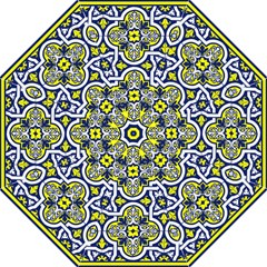 Tiles Panel Decorative Decoration Hook Handle Umbrellas (Large)
