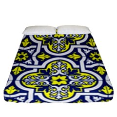 Tiles Panel Decorative Decoration Fitted Sheet (queen Size)