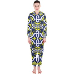 Tiles Panel Decorative Decoration Hooded Jumpsuit (Ladies)