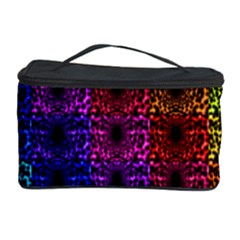 Rainbow Grid Form Abstract Cosmetic Storage Case