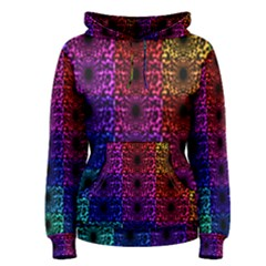 Rainbow Grid Form Abstract Women s Pullover Hoodie