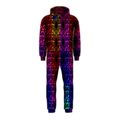 Rainbow Grid Form Abstract Hooded Jumpsuit (Kids)