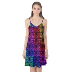 Rainbow Grid Form Abstract Camis Nightgown