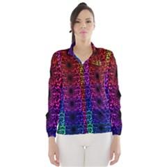 Rainbow Grid Form Abstract Wind Breaker (Women)