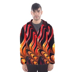 Fractal Mathematics Abstract Hooded Wind Breaker (men)