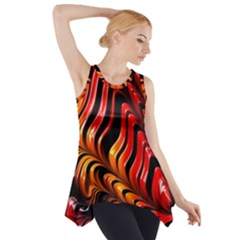 Fractal Mathematics Abstract Side Drop Tank Tunic