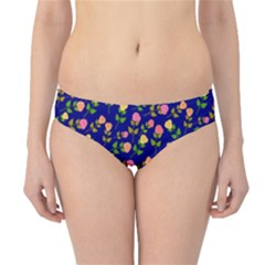 Flowers Roses Floral Flowery Blue Background Hipster Bikini Bottoms